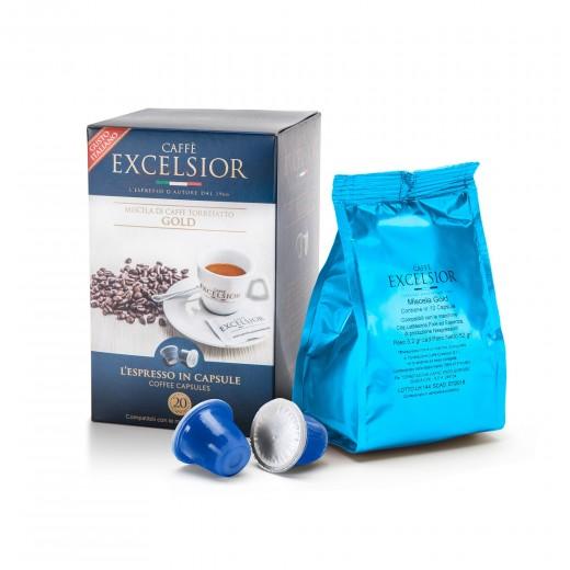 Coffe Capsules Gold Nespresso compatible