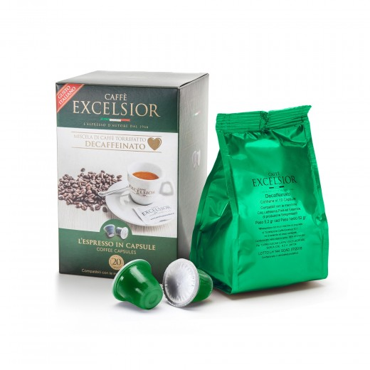 Coffe Capsules Decaffeinated Nespresso compatible